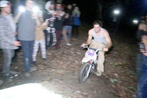 VIDEO: Halloween pit bike party (explicit language)