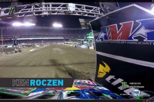 Video: Ken Roczen's GoPro footage from Anaheim 3
