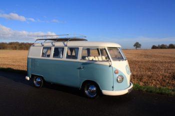 Blue 1964 VW Split Screen Camper Van