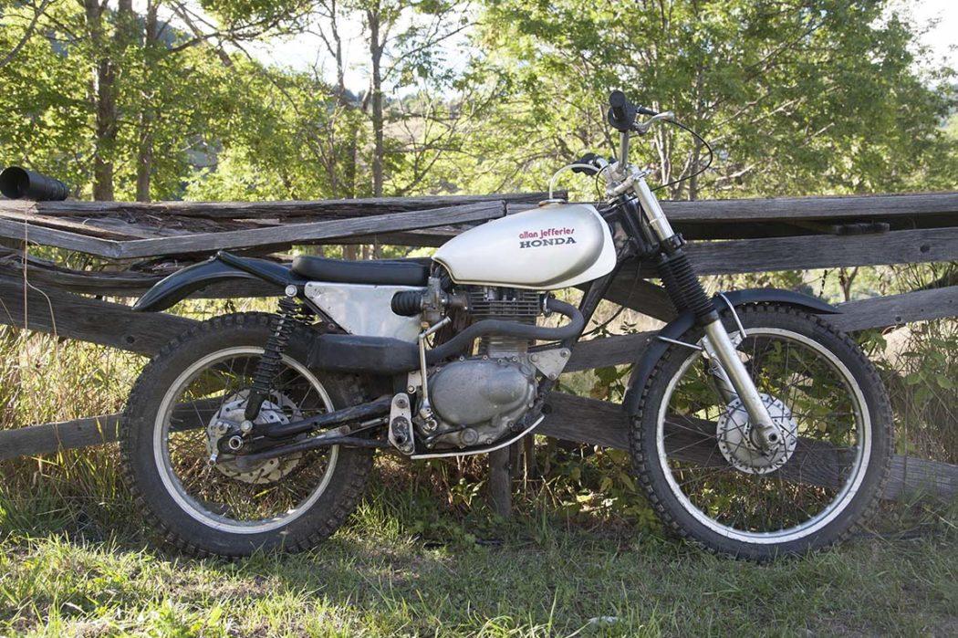 Here's a bit of a rare beast in the shape of a 250 Jefferies Honda twin-shock trials iron