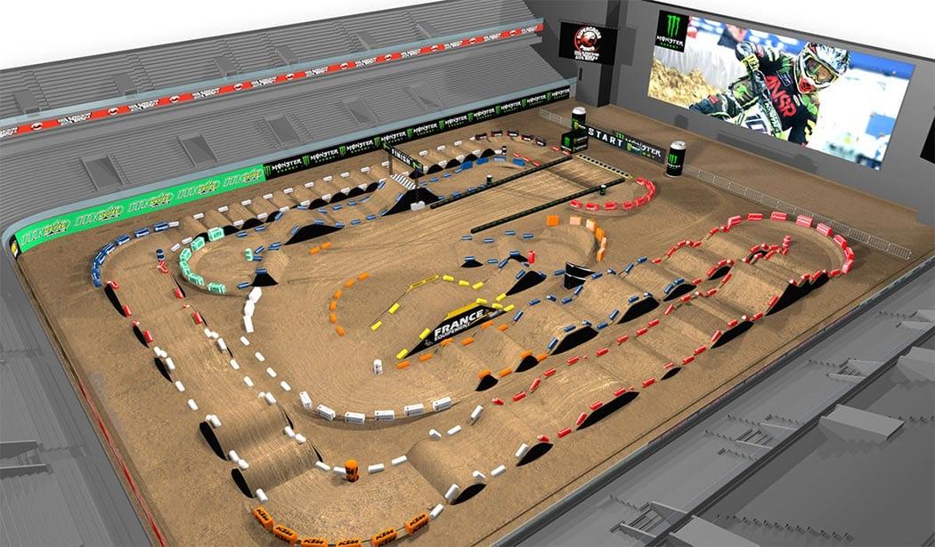 Supercross Paris 2017 track map