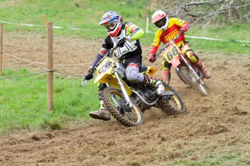 Luke Hill leads Terry House, Devon Classic Motocross - Widworthy