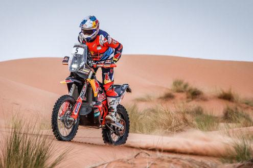 Sam Sunderland fastest on first half of Rally Du Maroc marathon stage