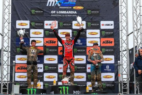 Eddie Jay Wade takes Mantova EMX125 podium