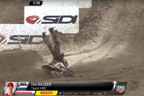 VIDEO: Tim Gajser crash Mantova MXGP