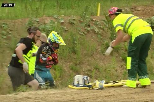 Tony Cairoli crash – MXGP of Latvia 2019