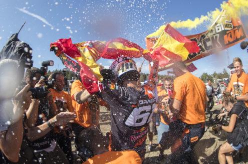 Jorge Prado takes second consecutive MX2 world championship at MXGP of Sweden