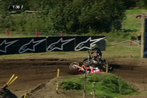 VIDEO: Jeffrey Herlings crash – MXGP of Sweden 2019