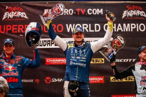 Billy Bolt declared a 2020 FIM World Champion after SuperEnduro cancels final round