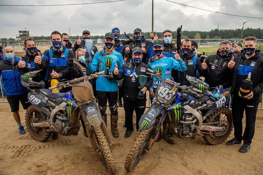 Monster Energy Yamaha Factory MX2 Team celebrates historic double podium at Lommel