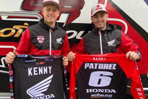 Nathan Watson and Benoit Paturel in MXGP with Team Honda France SR Motoblouz