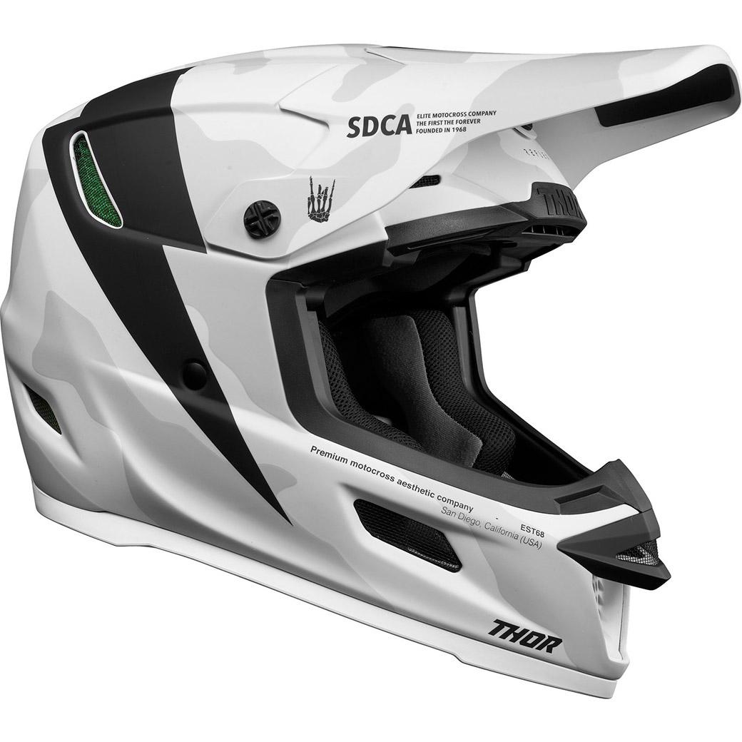 Motocross helmet THOR Reflex Cast White