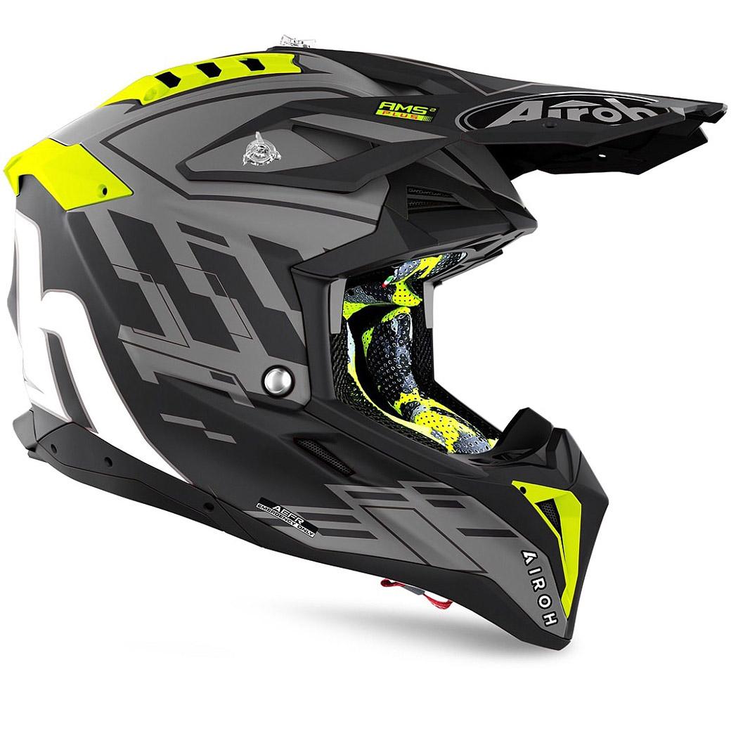 Motocross helmet Airoh Aviator 3 Black Rampage