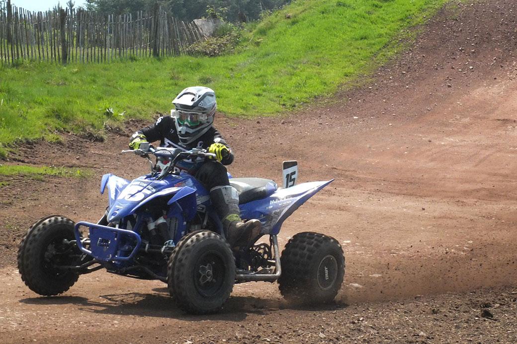 Dafydd Davies dominated the quad class